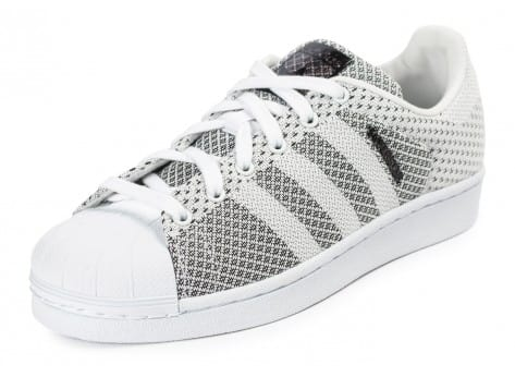 Chaussures adidas Superstar Weave blanche vue arrière