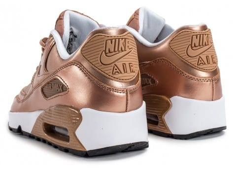 Chaussures Nike Air Max 90 SE Leather Metallic Bronze vue dessous