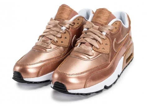 Chaussures Nike Air Max 90 SE Leather Metallic Bronze vue intérieure