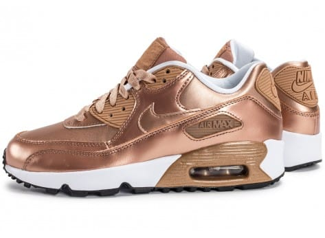 Chaussures Nike Air Max 90 SE Leather Metallic Bronze vue extérieure