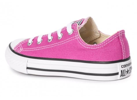 Chaussures Converse Chuck Taylor All-Star OX Enfant rose vue arrière