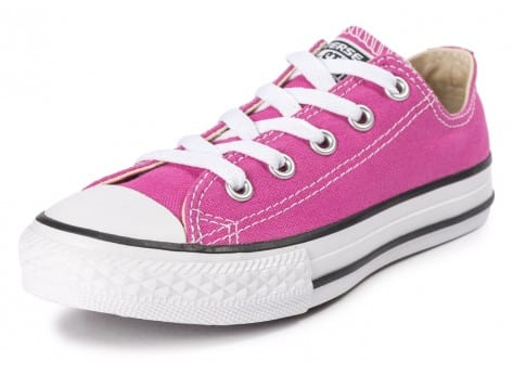 Chaussures Converse Chuck Taylor All-Star OX Enfant rose vue avant