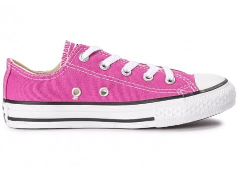 Chaussures Converse Chuck Taylor All-Star OX Enfant rose vue dessous