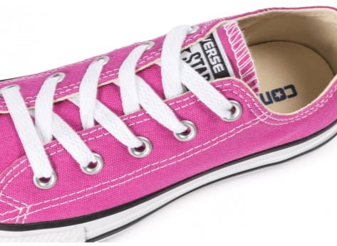 Chaussures Converse Chuck Taylor All-Star OX Enfant rose vue dessus