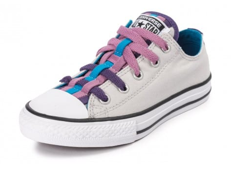 Chaussures Converse Chuck Taylor All-Star Loophole grise vue avant
