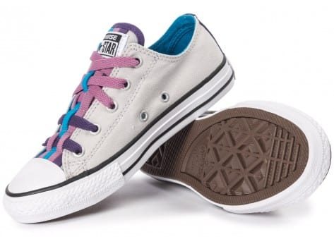 Chaussures Converse Chuck Taylor All-Star Loophole grise vue intérieure