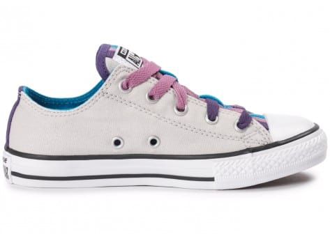 Chaussures Converse Chuck Taylor All-Star Loophole grise vue dessous