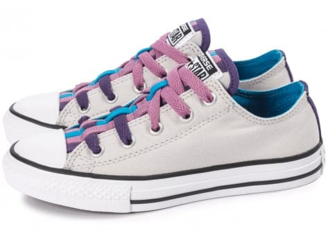Chaussures Converse Chuck Taylor All-Star Loophole grise vue extérieure