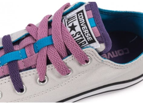 Chaussures Converse Chuck Taylor All-Star Loophole grise vue dessus