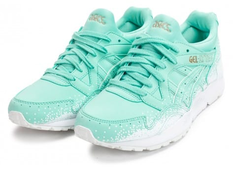 Chaussures Asics Gel Lyte V Snowflake W turquoise vue dessus
