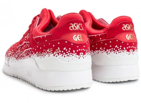 Chaussures Asics Gel Lyte III Snowflake rouge vue dessous