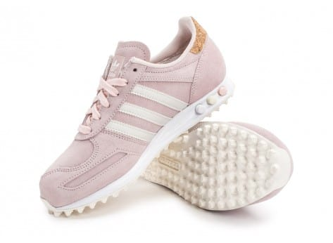 Chaussures adidas L.A Trainer rose vue avant