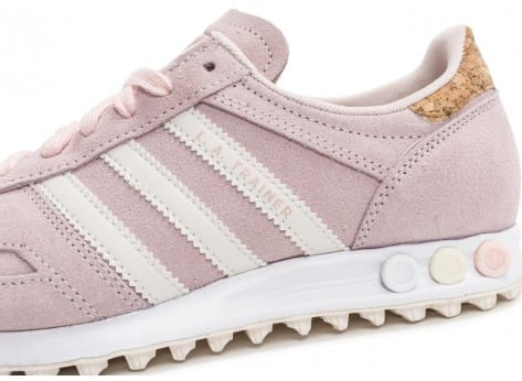 Chaussures adidas L.A Trainer rose vue dessus