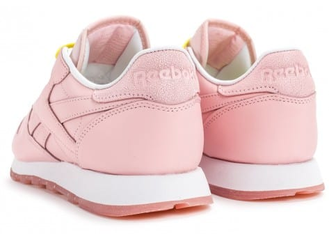 Chaussures Reebok Classic Leather Face Stockholm rose vue dessous