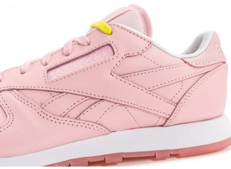 Chaussures Reebok Classic Leather Face Stockholm rose vue dessus