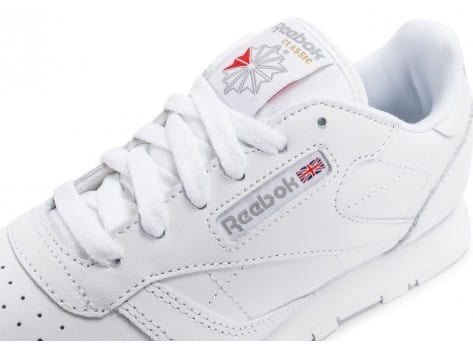 Chaussures Reebok Classic Leather Triple blanc vue dessus