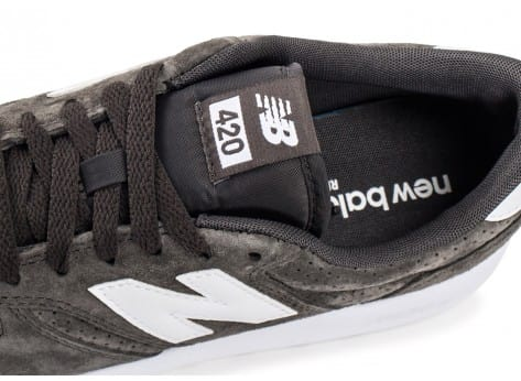 Chaussures New Balance 420 Re-Engineered Suede gris vue dessus