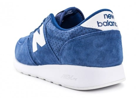 Chaussures New Balance 420 Re-Engineered Suede bleue vue arrière