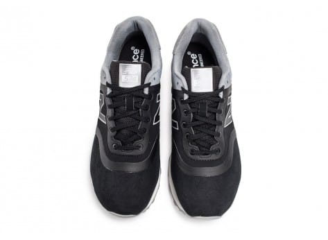 Chaussures New Balance 574 Re-Engineered Suede noire vue arrière