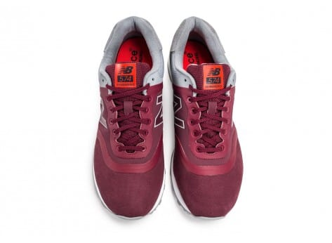 Chaussures New Balance 574 Re-Engineered Suede bordeaux vue arrière