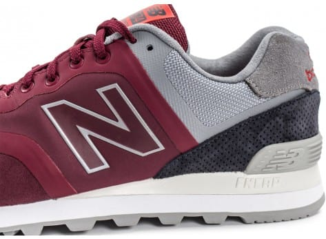 Chaussures New Balance 574 Re-Engineered Suede bordeaux vue dessus