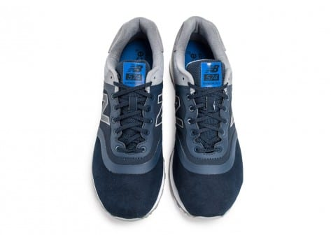 Chaussures New Balance 574 Re-Engineered Suede bleu marine vue arrière