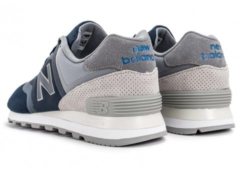 Chaussures New Balance 574 Re-Engineered Suede bleu marine vue dessous