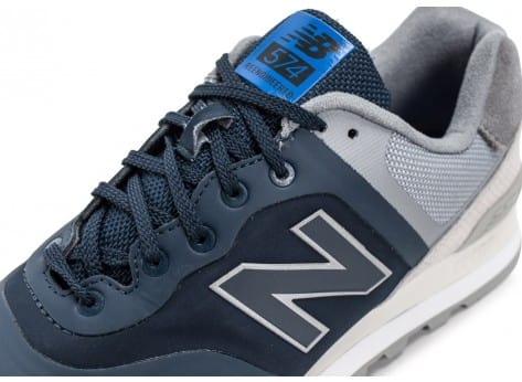Chaussures New Balance 574 Re-Engineered Suede bleu marine vue dessus