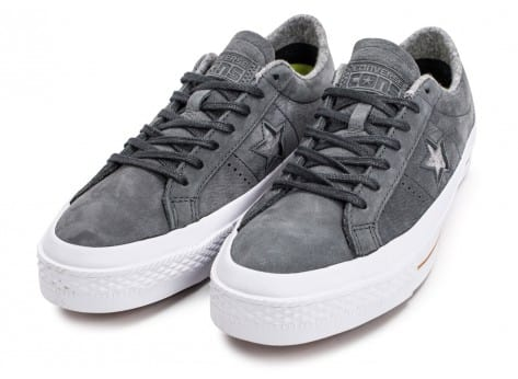 Chaussures Converse One Star Nubuck grise vue intérieure