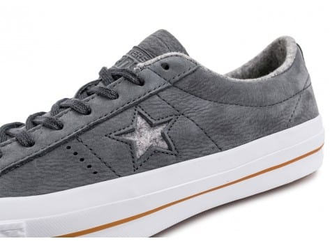 Chaussures Converse One Star Nubuck grise vue dessus