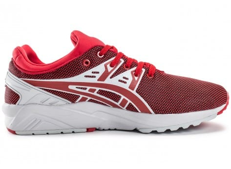 Chaussures Asics Gel Kayano Trainer Evo rouge vue dessous