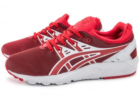 Chaussures Asics Gel Kayano Trainer Evo rouge vue extérieure