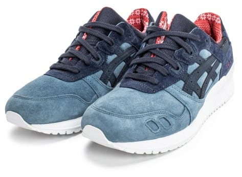 Chaussures Asics Gel Lyte III Christmas Pack bleue vue intérieure