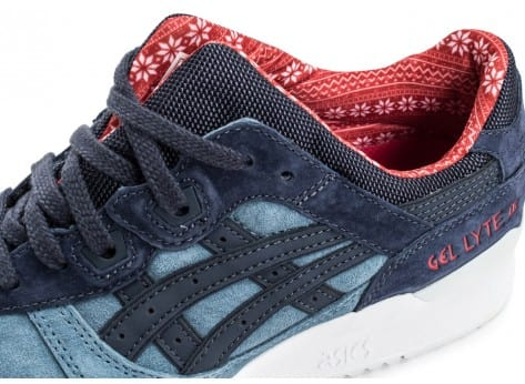 Chaussures Asics Gel Lyte III Christmas Pack bleue vue dessus