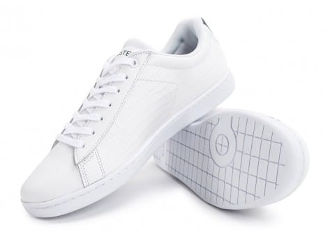 Chaussures Lacoste Carnaby Evo Croc blanche bleu vue avant