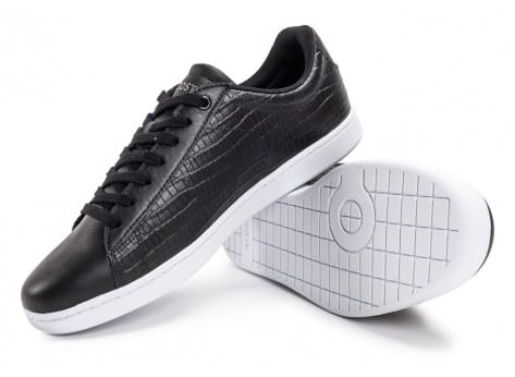 Chaussures Lacoste Carnaby Evo Croc noire vue avant