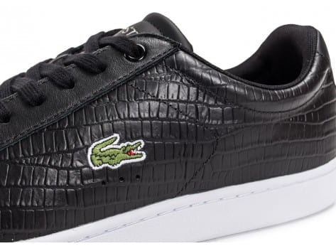 Chaussures Lacoste Carnaby Evo Croc noire vue dessus