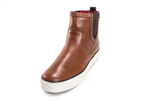 Chaussures Keds Bottines Triple Chelsea marron vue avant