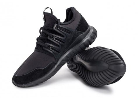 Chaussures adidas Tubular Radial noire vue avant