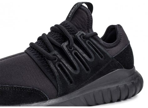 Chaussures adidas Tubular Radial noire vue dessus
