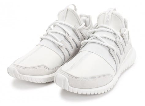 Chaussures adidas Tubular Radial blanche vue intérieure