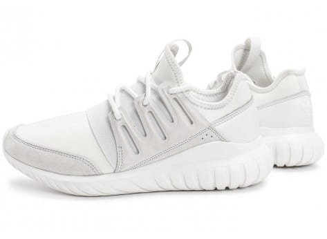 Chaussures adidas Tubular Radial blanche vue extérieure