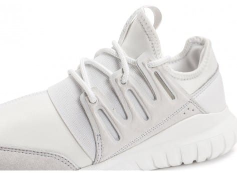 Chaussures adidas Tubular Radial blanche vue dessus
