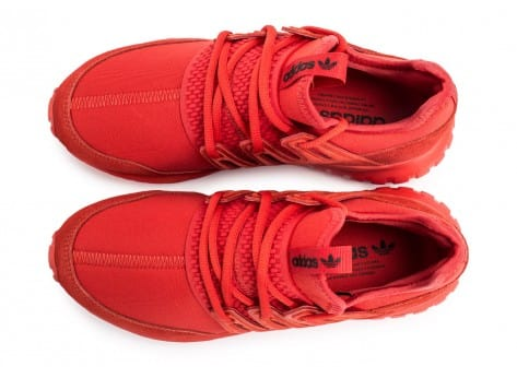 Chaussures adidas Tubular Radial rouge vue arrière