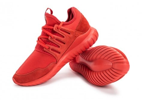 Chaussures adidas Tubular Radial rouge vue avant