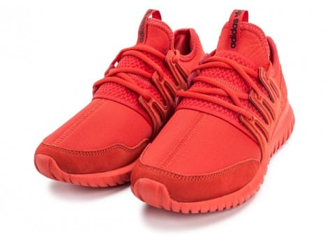 Chaussures adidas Tubular Radial rouge vue intérieure