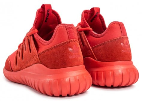 Chaussures adidas Tubular Radial rouge vue dessous