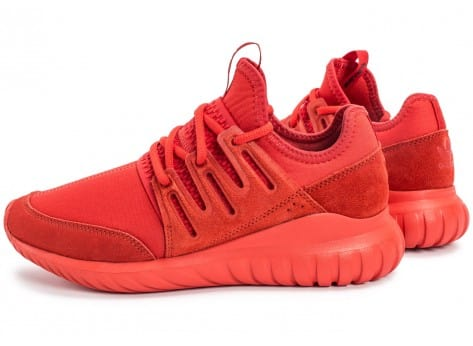 Chaussures adidas Tubular Radial rouge vue extérieure