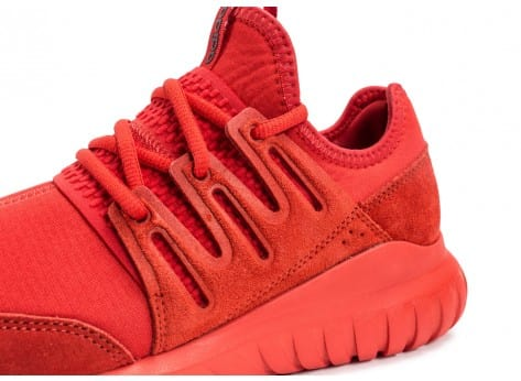 Chaussures adidas Tubular Radial rouge vue dessus