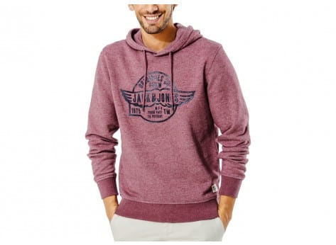 Sweat Jack & Jones Sweat à capuche Paint Bordeaux
